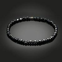 Handgemachte Schmuck Großhandel Perlen Armband Magnet Schmuck Schwarze Farbe Hämatit Magnetische Therapie Halskette