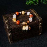 Link Xinjiang Goldene Jade Armband Kürbis Pearl Lilie des Talfass Bambus Gourd Gelb Anhänger