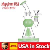 10.5inch Dicke Glas Becherbang Bong Rauchen Wasserleitungen Dicke Basis Recycler Kopfwissenschaftliche DAB-Rigs-Wasserhaare mit 14mm-Tabakschale billig