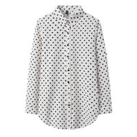 Women's Fashion Polka Dot Print Shirt Lady Long Style Plus Size Casual Blouse Spring Sleeve Blouses and Tops 5XL