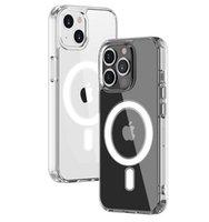 Magsoge Transparente Clear Acrílico Capas de Telefone Imoproof À Prova de Choque para iPhone 13 Pro Max 12 Mini 11 XR XS x 8 7 PLUS com pacote de varejo compatível Capa de carregador Magsafe
