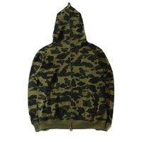 Знаменитый дизайнер мужской свитер с толстовой курткой камуфляж акула голова осень и зима чистый ватный сезон многоцветный s-xxl размер