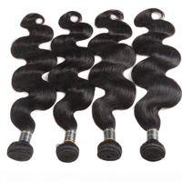8A Mink Brazilian Body Wave Jungfrau Haar 4pcs Lot Malaysian Peruanian Brasilianische Haarwebart Bündel Nass und Wellenförmige jungfräuliches menschliches Haar-FEFTS