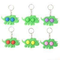 2021 Pop Fidget Push Bubble toys Keychain Children's Novel Dimple Animal Toys Ring Bag Pendant Decompression toys