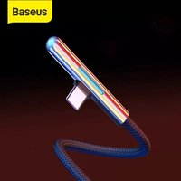Baseus USB Type C Cable LED Elbow 4A Quick Charge Cable for huawei for Samsung Xiaomi Cabo Game Wire