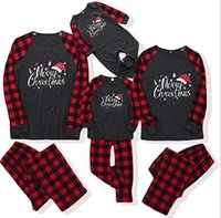 Fashion body leisure family clothes matching Christmas print color matching suit