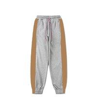 Moda para hombre jogging pantalones 2021 hombres mujeres estilista lattice breader letras jogger pantalón pantalón pantalones de pie