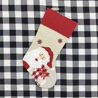 Decorazioni di Natale transfrontaliere Santa Claus Snowman Penguin ricamo stampato Natale caramelle regalo sacchetti ornamenti all'ingrosso