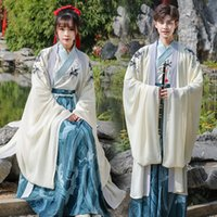 WZPLZJ Costume Student Women Adult wear Embroidery Hanfu Men Princess Mascot Traditional Ancient Folk Dance Tang Suit Stage Halloween Outfit Carnival Party Dress