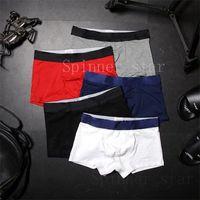 Hommes Boxer Seau-maîtres Mode De bonne qualité Coton Coton Ascenseur de la hanche en vrac Coin de la taille intérieure Simplicité n'est pas simple sous-vêtements doux et adaptés à la peau