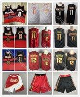 Mens Vintage SwingmanAtlantaHawks Vince 15 Carter Trae 11 Jeune Dikembe 55 Mutombo Jersey de basket-ball de basketch
