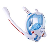 Diving Masks Mask Swimming Scuba Equipment Double Breathing Tube Silicone Full Dry Safe