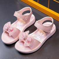 Children's Sandals Girl's Fashion Little Girl Princess 2021 New Korean Soft Soled Anti Slip Student Beach Shoes