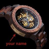 Personalisierte Customiz Uhr Männer Bobo Vogel Holz Automatische Uhren Relogio Masculino OEM Jubiläumsgeschenke Für ihn Kostenlose Gravur CJ191217