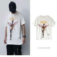 Polo shirts Nebel High Street Nirvana Angel Heavy Metal Kurzarm Kanye Mode Marke Paar T-Shirt