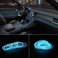 Light Strips Interior Decoration Decorative Lamp Car 12V LED Cold lights Flexible Neon EL Wire Car styling 5m