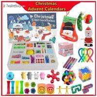 Fast Tiktok Christmas Favor Advent Sensory Calendars Fidget Toys Bift Blind Box Xmas Gift For Children Kids Push Bubble Autism Stress Relief Anti Anxiety MS22