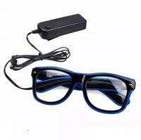الجملة البند led حزب نظارات أزياء الأسلاك نظارات عيد هالوين حزب بار الزخرفية المورد مضيئة نظارات GWB10428