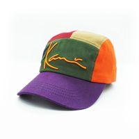 Commercio all'ingrosso di alta qualità su ordinazione su ordinazione hip-hop hop-hop curvatura curva curva 5 pannello cappuccio cotone 3d ricamo 5 pannello cappelli da baseball cappello sportivo