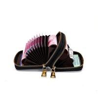 Wholesale Money Clips Double organ women's short Korean zipper bag multi card zero wallet fashion c