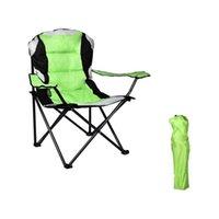 US Stockg 휴대용 접이식 캠프 캠핑 해변 스포츠 게임 바베큐 야외 의자 가구 의자 컵 홀더 및 패드 저장 가방