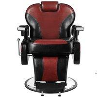 Hand Hydraulic Recline Tattoo Chair Salon Barber Hair Stylist Heavy Duty Shampoo Beauty Salon Equipment - Red by sea HWB10340