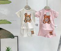 아이 의류 세트 소년 옷 여름 여자 티셔츠 짧은 복장 스포츠 아이들이 디자이너 유아 아기 의상을 설정