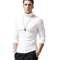 T-shirt T-shirt Homme à manches longues à manches longues à col montant serré automne et hiver