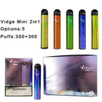 Vidge Mini 2 1 Çift Diposable E Sigara Cihazı 300 + 300 Puffs 400 mAh Pil Pod Kartuş Vape Pen Kiti