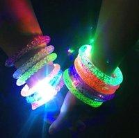 Çocuk oyuncakları toptan led ışıklı aydınlık bilezik konser performans sahne kabarcık flaş boncuk ve kabarcıklar interaktif 496