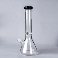 """8 """"clear tubulação de vidro 14mm bacia de junta 2021 água de alta qualidade fumando bong com cachimbo de água Beaker Base de vidro Bongs FY2313"""