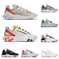 EPIC 2021 Top Element 55 87 React Vision Running Shoes Sail Tour Yellow Worldwide Pack Men Women Summit White Trainers Sports Sneakers 36-45