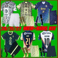 Hombres + Kits Kit 20-21 Liga MX Club América Fútbol Jersey 2122 Giovani America Unam Tercer Uan Peralta P.Aguilar S.Romero Castillo F.Vinas México Camisa de Fútbol