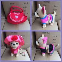 Animaux en peluche Stuffed Peluche Chaussure physiquePlush Love Can Der Laisse Chi Walk Walk And Sing Electronic Pet Dog Jouet