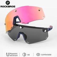 ROCKBROS ELECTORY CYCY EYEAU 2 EN 1 Sports polarisés UV400 Magnétique Split HD Grand Lentilles de soleil à vélo de lentille sans cadre