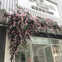 Decorative Flowers & Wreaths Big Rose Flower Rattan Fake Winding Pipe Decoration Landscaping Climbing Vine Wall Hanging Flores Artificiales