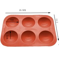 Moldes de Silicone de Meia Esfera Bakeware Bolo Decoração Ferramentas Pudim Jelly Chocolate Fondant Bola Bola Biscoito Moldes DHE6303