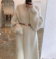 Elegant Long Cardigan Women Korean Style Cardigans Woman Casual Furry Sweater Winter Coat Pull Femme 2020 New Fashion