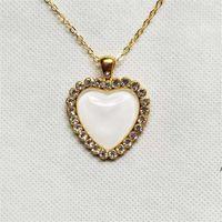 NOUVEAU NOUVEAU! Sublimation Vintage Crystal Collier Saint Valentin Cadeau Creative Cadeau Coeur Collier Collier Romantique Style Femme Love Torque Fashio