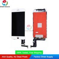 Painel LCD do Polarizador da vista completa para o iPhone 7P 8P 5.5inch Touch Screen Digitador Conjunto de alto brilho Livre DHL