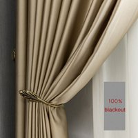 Curtain Gold Side Screening Ready s Thermal insulated For Living Room Bedroom Luxury Fat Effects Window Treatment J0727