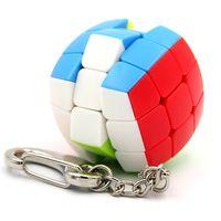 Mini 3.5cm 3x3 Speed Bread Cube Key Ring Decompression Fidget Cubes Finger Toys Keychain Bag Pendant Puzzle Charms 2373 Y2