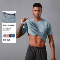 Yaz Spor T-shirt erkek Yuvarlak Boyun Kısa Kollu Üst Gevşek Koşu Spor Basketbol Eğitim Hızlı Kurutma Giysi
