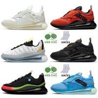 Kadın Erkek Air Max 720 Koşu Ayakkabıları Moda 720-818 Kayma Obj Zirvesi Beyaz Dünya Çapında Paketi Siyah 720s Sneakers Takım Turuncu Metalik Bakır Kargo Haki Eğitmenler