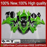 Motorcycle Bodys For KAWASAKI NINJA ZX 10R 10 R 1000 CC ZX10R 06 07 green stock Bodywork 14No.64 ZX-10R ZX1000 1000CC 2006 2007 ZX1000C ZX1000CC 2006-2007 Fairing Kit