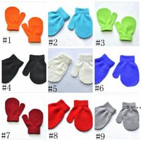 Baby Winter Warm Mittens Kids Knitted Gloves Boys Girls Anti-chaos Grabbing Mitten Student Scratch Candy Color mittens 1-4 year LLA9592