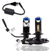 2 pz 90W / Accoppia lampada H4 LED Mini Bi Lens Proiettore Automobile Faro dell'automobile 20000LM Lampada Hi / Low Beam luci Canbus 12V Lampadina Altro sistema di illuminazione