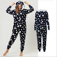 Winter Pajama Set Warm Womens Sleepwears Flannel Hooded With Pocket Onesie Fluffy Sleepwear Female One piece Jump Suits Pyjama Homewear