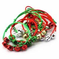 Christmas Bell Necklace Bracelet Party Favor Christmas Family Decorations Pendant Child Cross Bells Necklaces