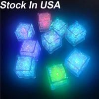 أضواء الليل قابلة لإعادة الاستخدام متعدد الألوان آيس مكعبات محاكاة آيس كيوب لجميع القديسين حفل زفاف نادي بار الشمبانيا برج الديكور